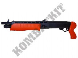HA232 SPAS-12 Style Shotgun Pump Action Airsoft BB Gun 2 Tone Black Orange